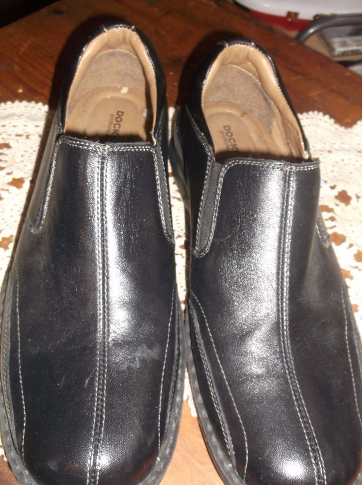 b762d05d68d Mens Dockers Loafers ProStyle Black Leather 10 1 2 Slip On All Motion  Comfort