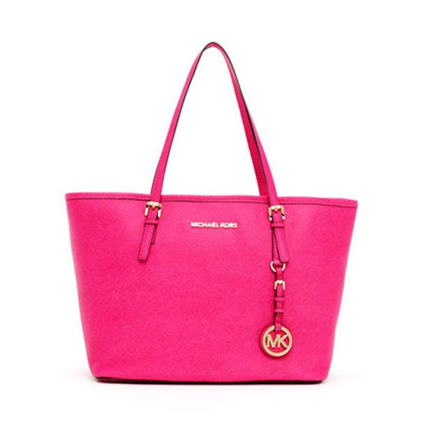 Michael Kors Jet Set Small Travel Tote Pink With Images Handbags Michael Kors Michael Kors Bag Purses
