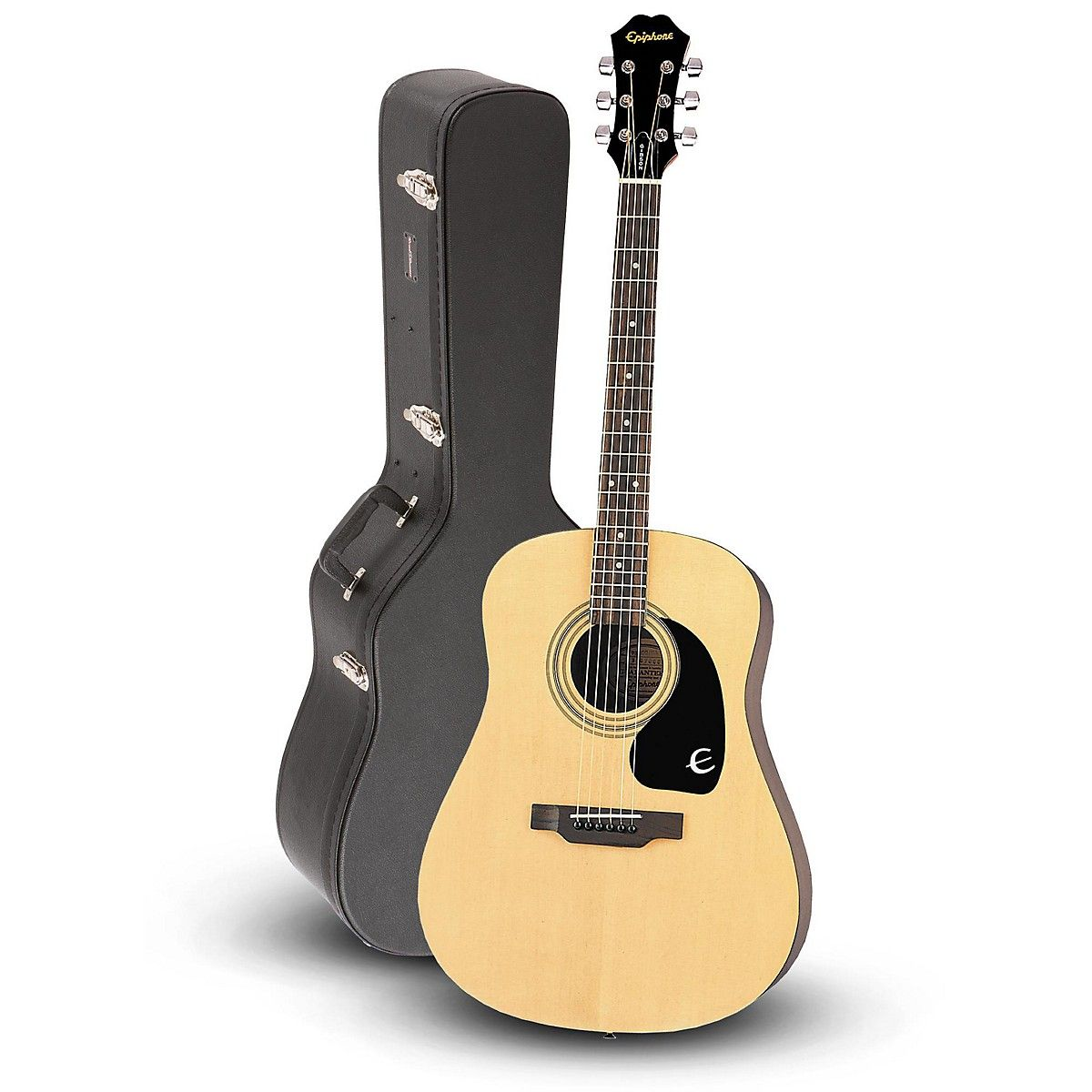 Epiphone Dr 100 Acoustic Guitar Natural With Road Runner Rrdwa Case Epiphone Guitar Acoustic Guitar