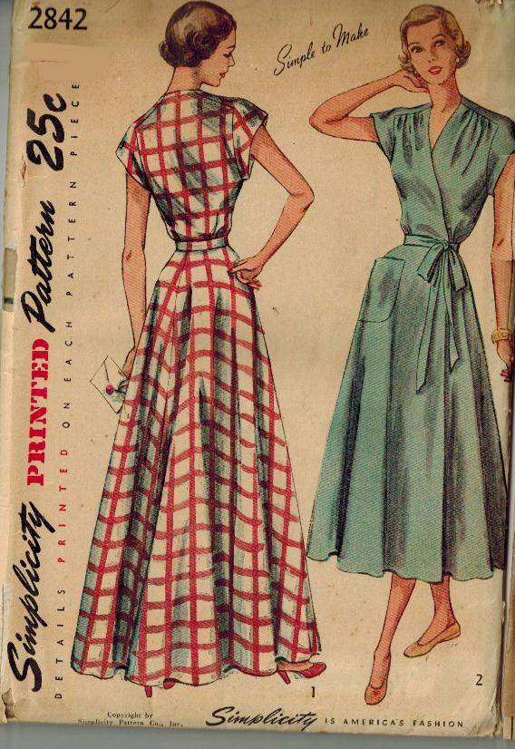 Simplicity 2842 Simplicity Patterns Dresses Vintage Dress Patterns Vintage Sewing Patterns