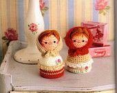 Amigurumi Russian Doll Pattern : Crochet animal crochet amigurumi crochet pig crochet matryoshka