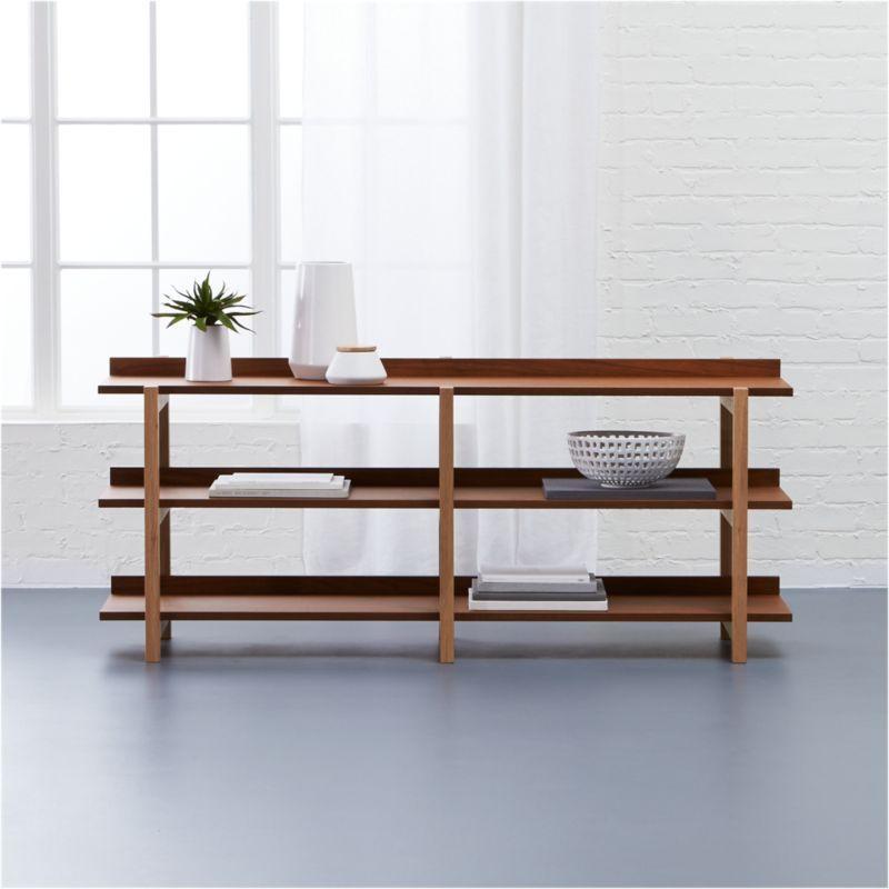 Stax 3 Shelf Console Table Reviews Cb2 Furniture Shelves Home Decor