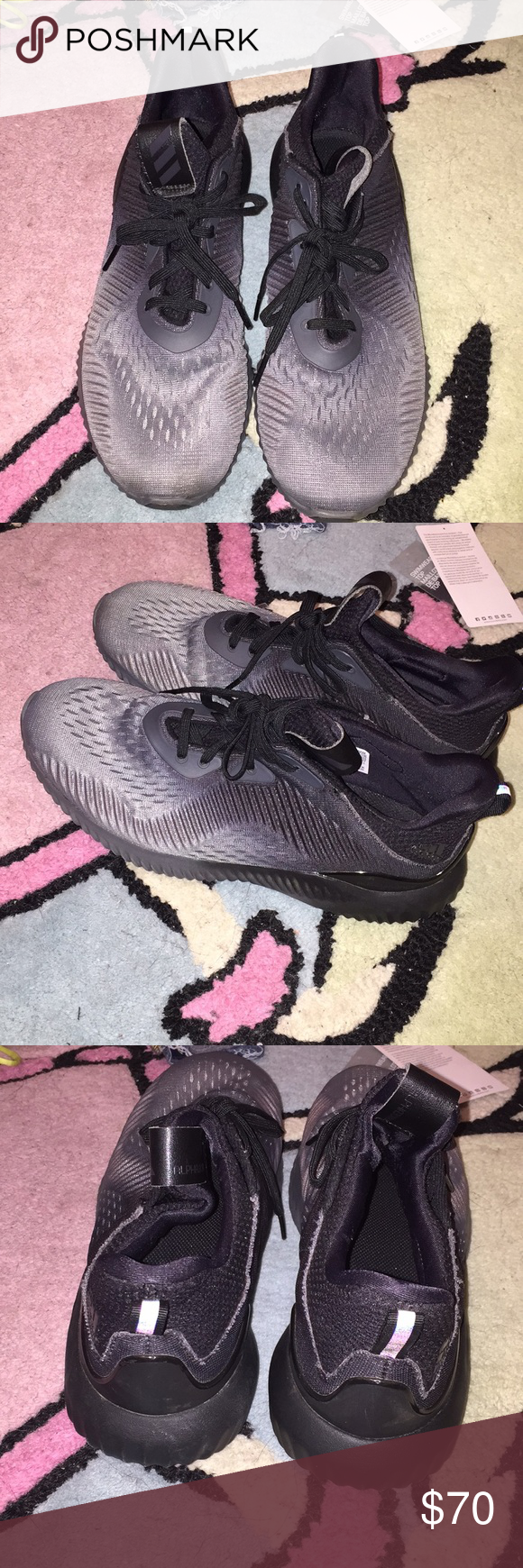 check out a3b8f e0313 Black and Grey Ombre Adidas Alpha Bounces These alpha bounces are so comfy!  (PRICE
