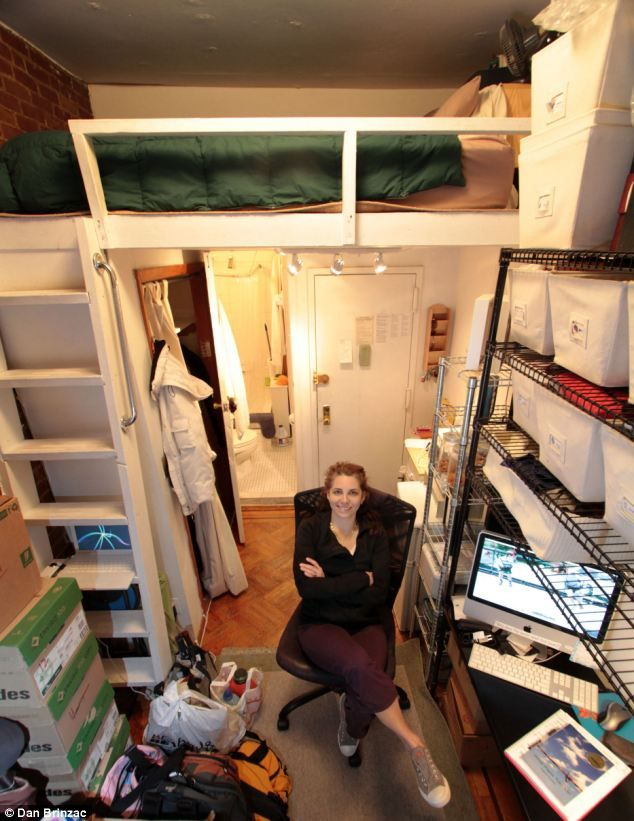 The big move Woman who lived in New Yorks smallest apartment