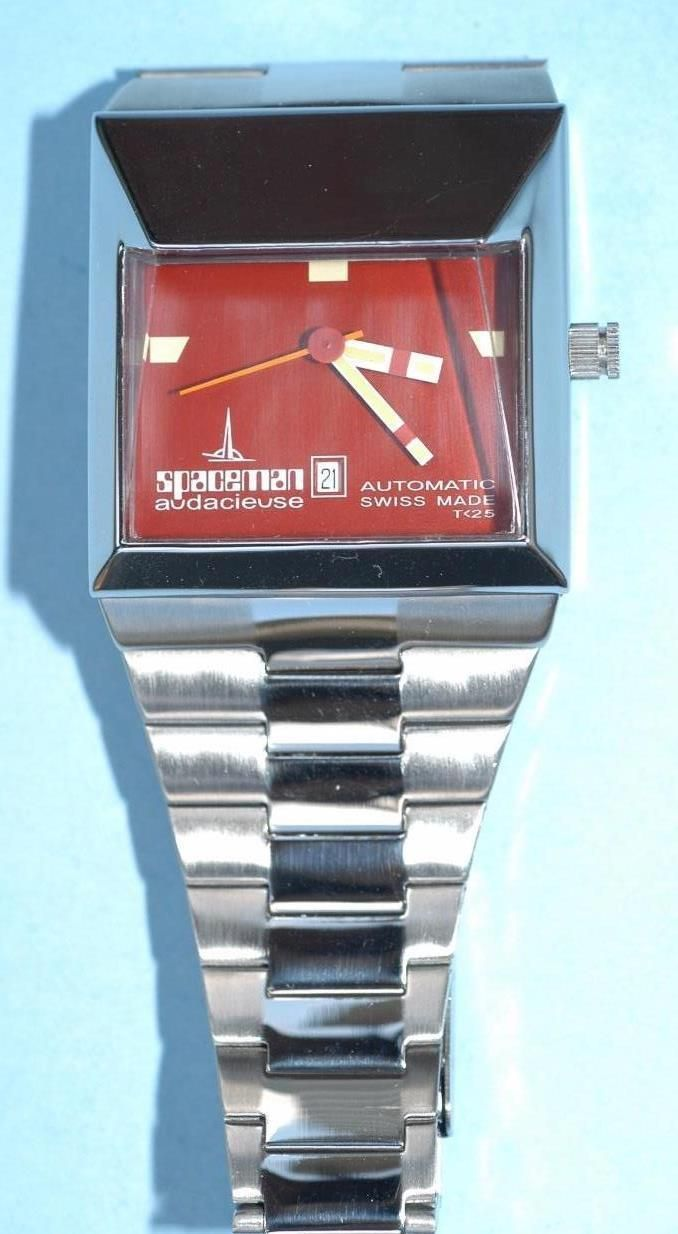 Spaceman Audacieuse Automatic Swiss Made Watch T<25 Red Dial in mint condition! • $398.00 - PicClick