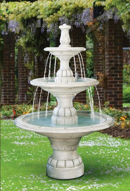 Large Contemporary Tier Fountain 5532f6 By Henri Studio Can Be Purchased At Http Apollostatuary Co Fountains Outdoor Large Outdoor Fountains Garden Fountains