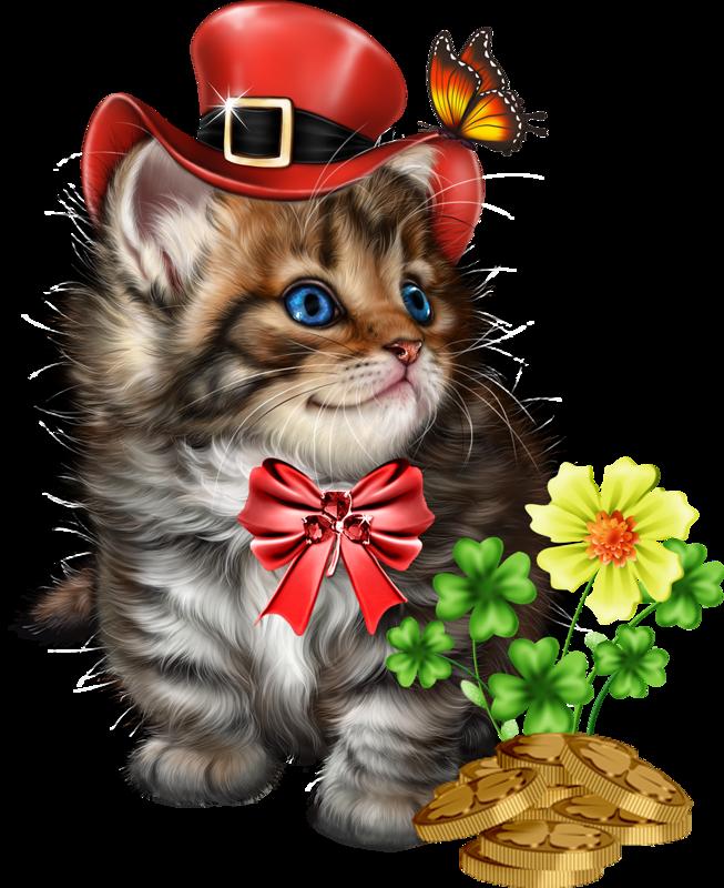 Клипарт от CatCats... праздник ПАТРИКА (кошки). Обсуждение ...