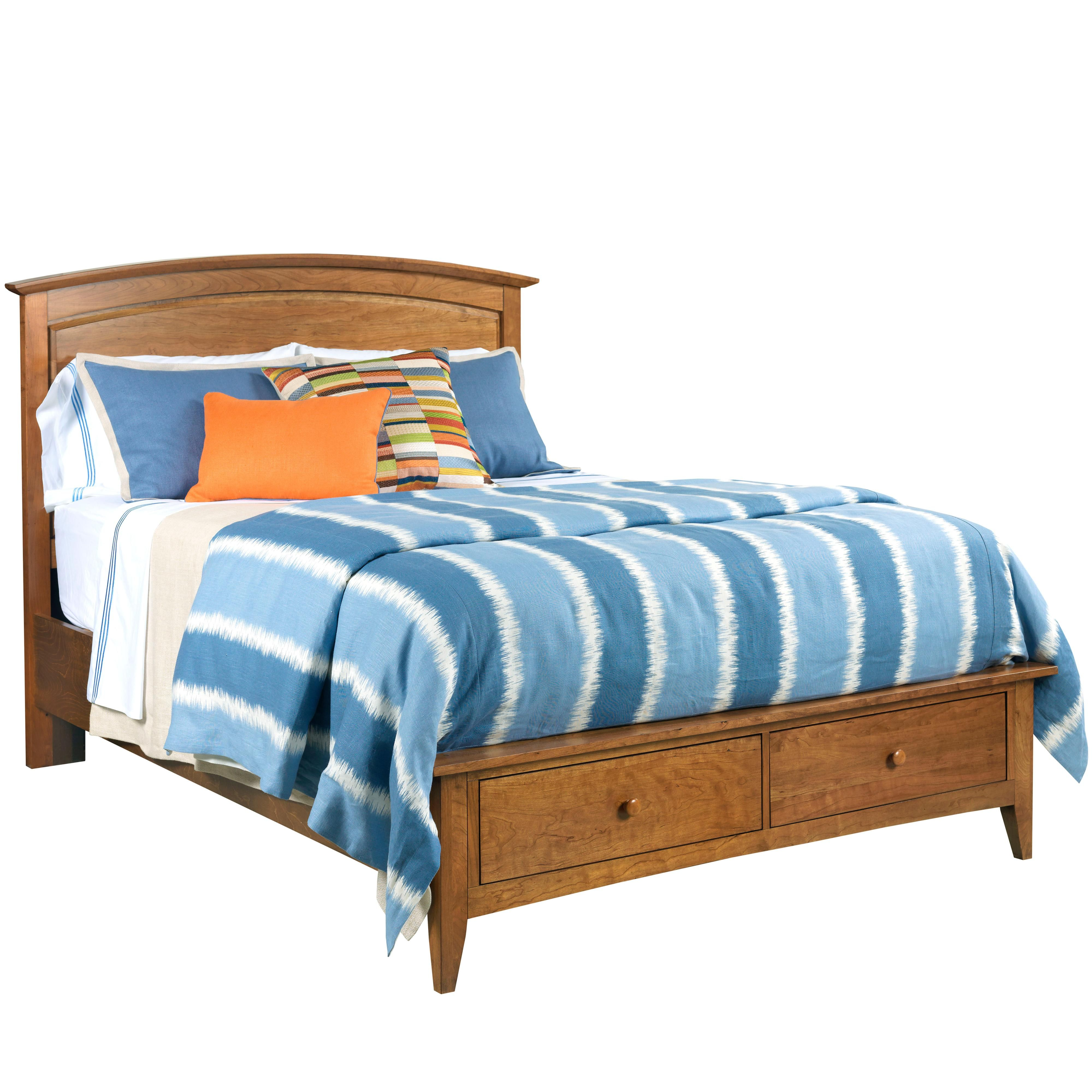 gatherings king arch bed with storage footboard by kincaid furniture