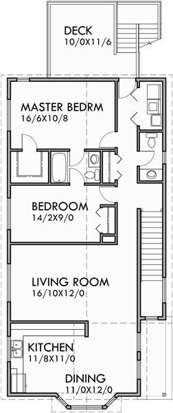 Stacked Duplex House Plans Duplex House Plans With Garage