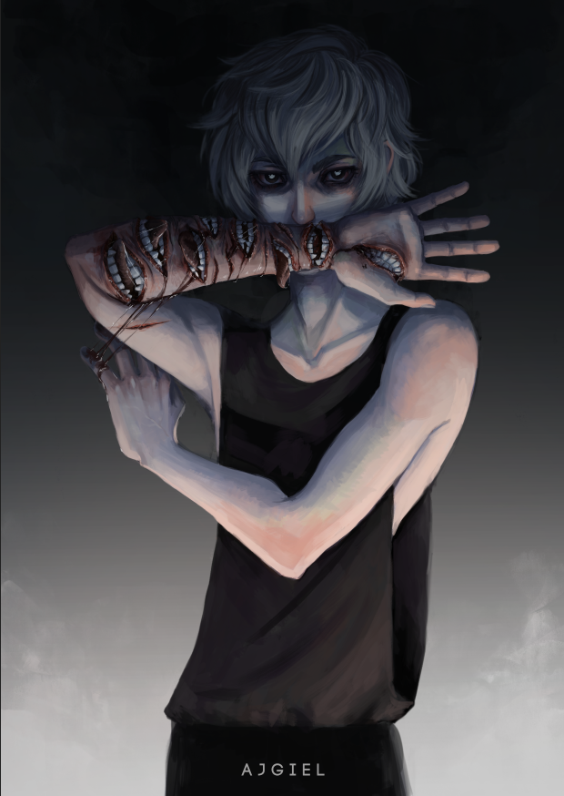 Ajgiel Horror Art Creepy Art Anime