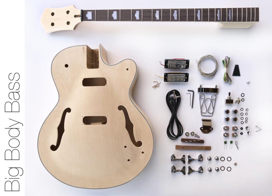 Diy Electric Bass Guitar Kit Hollow Body Bass Build Your Own Bass Kit In 2021 Bass Guitar Kit Guitar Kits Bass Guitar