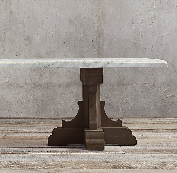 17th C French Bastide Oak Marble Rectangular Dining Table Dining Table Rectangular Dining Table Handcrafted Dining Table
