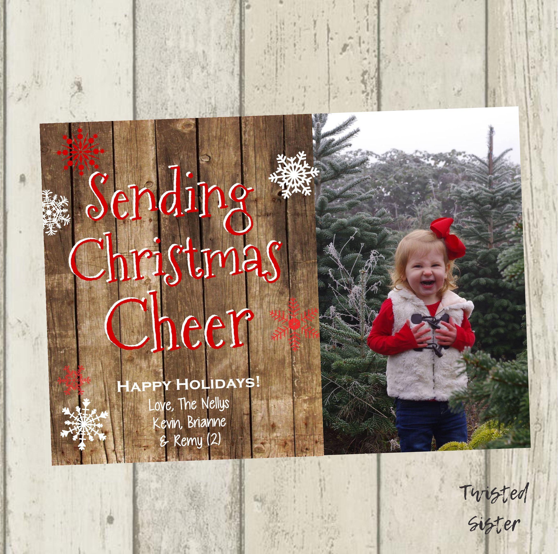 rustic christmas card photo christmas card family photo christmas card wood christmas card - Rustic Christmas Cards
