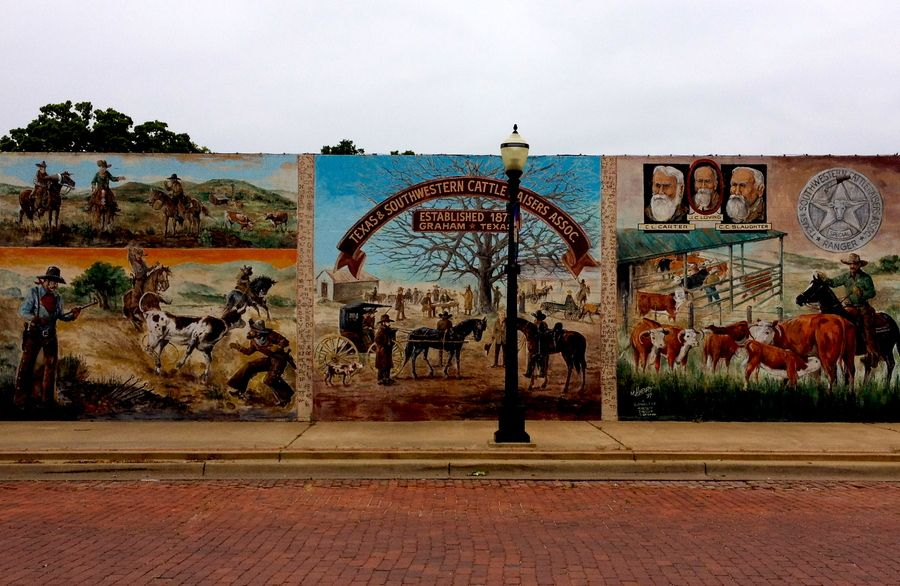"""Texas & Southwestern Cattle Raisers Association Mural, Graham, Texas, USA"" by Truman Sloan, via 500px."