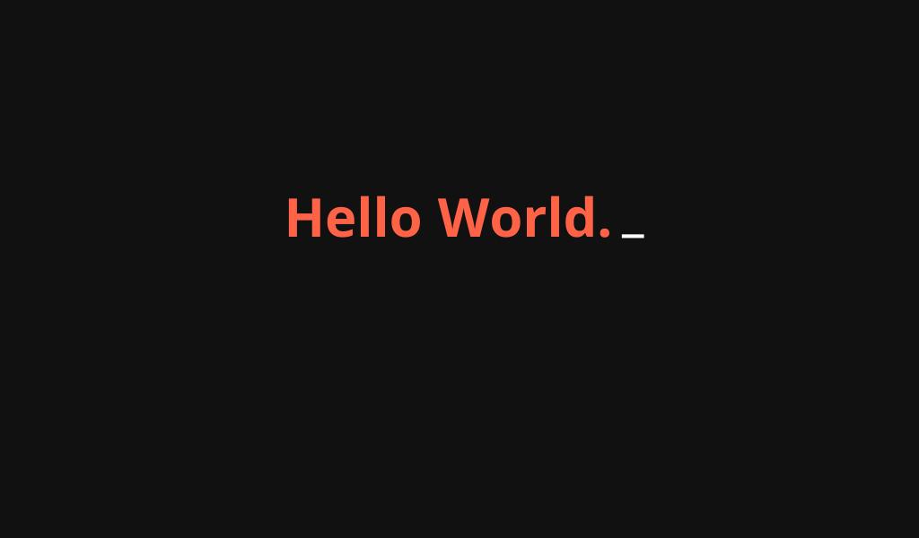 Terminal Text Effect +js