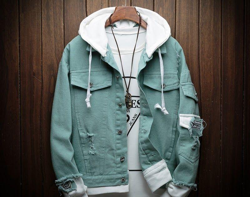 Fake Two Piece Man Casual Autumn Sweatshirts Hip Hop (E) in