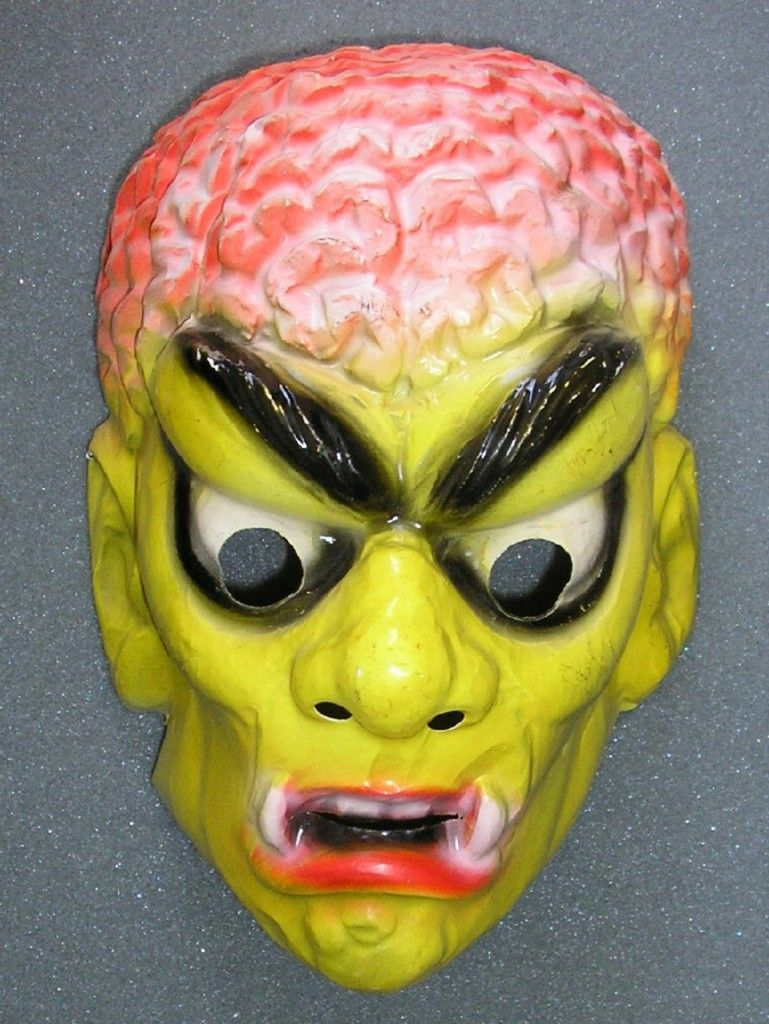 vintage halloween mask from eye of the hellhound | Masks ...
