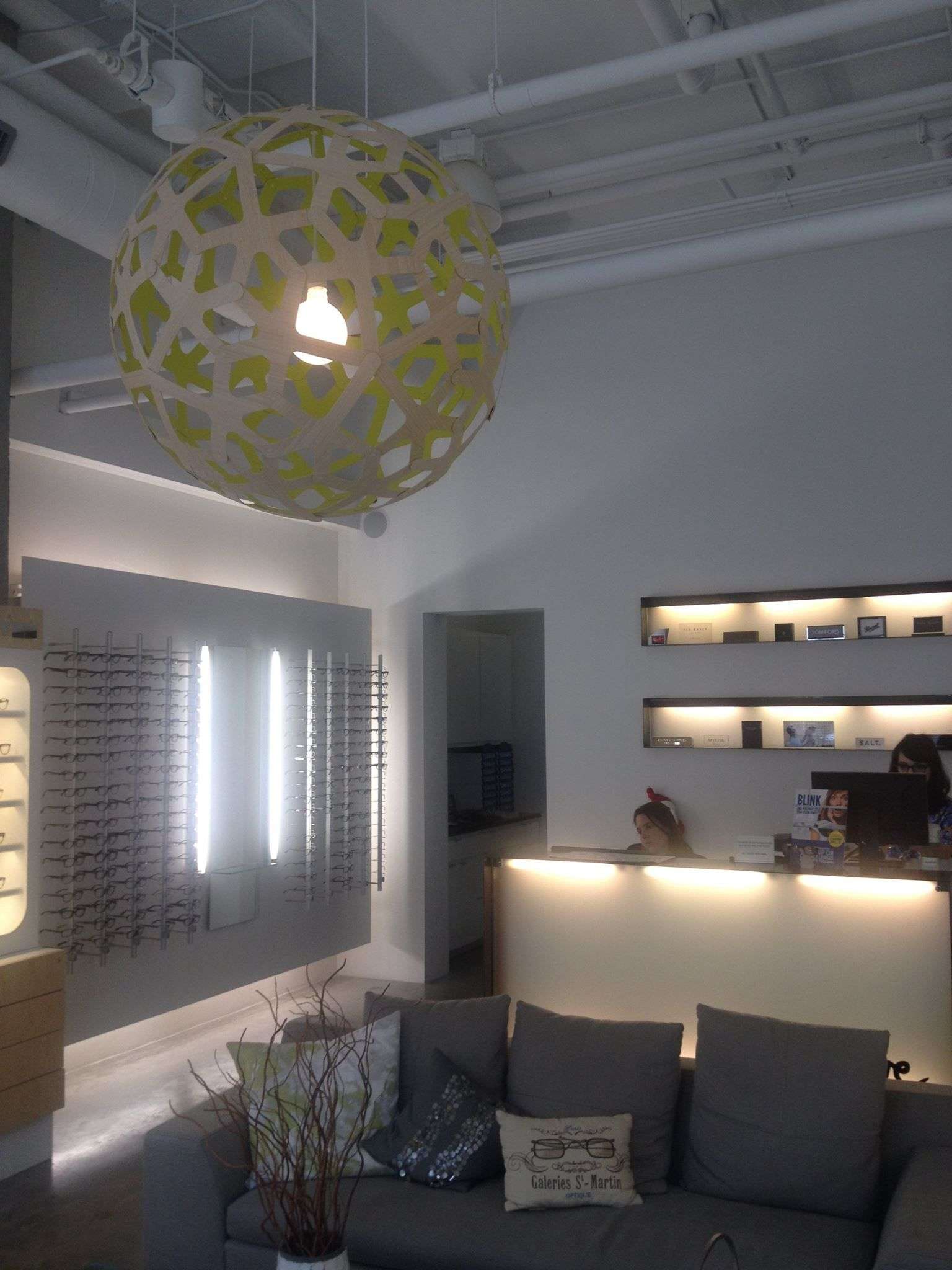Explore Lighting Design Pendant Lighting and more! & SPOTTED A David Trubridge CORAL 800 with Lime interior at Optique ...