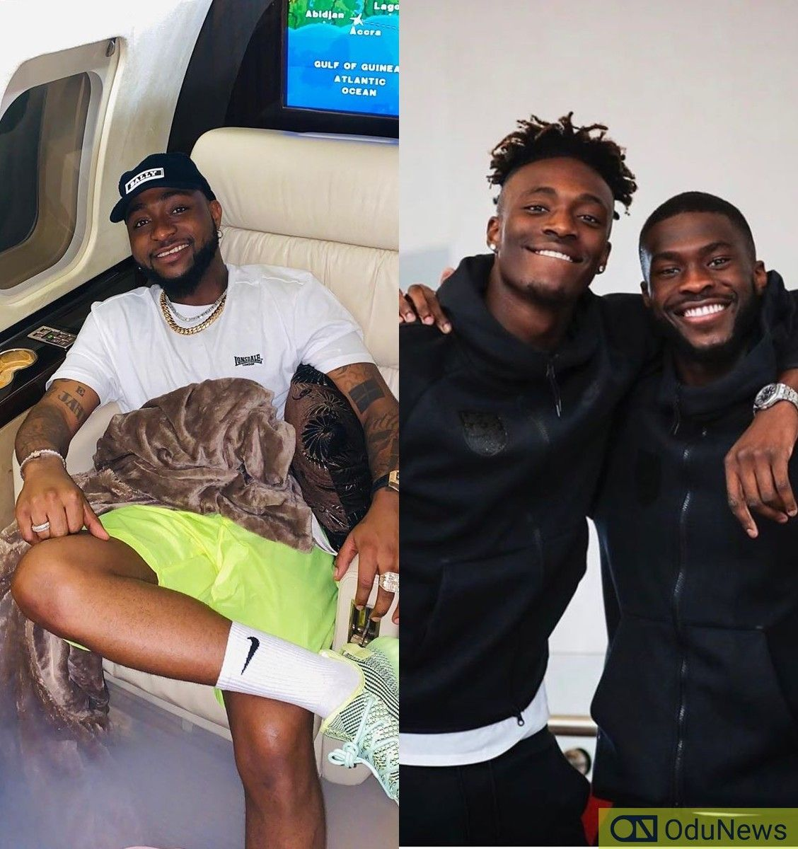 Davido Chills Out With Chelsea's Tammy Abraham & Fikayo