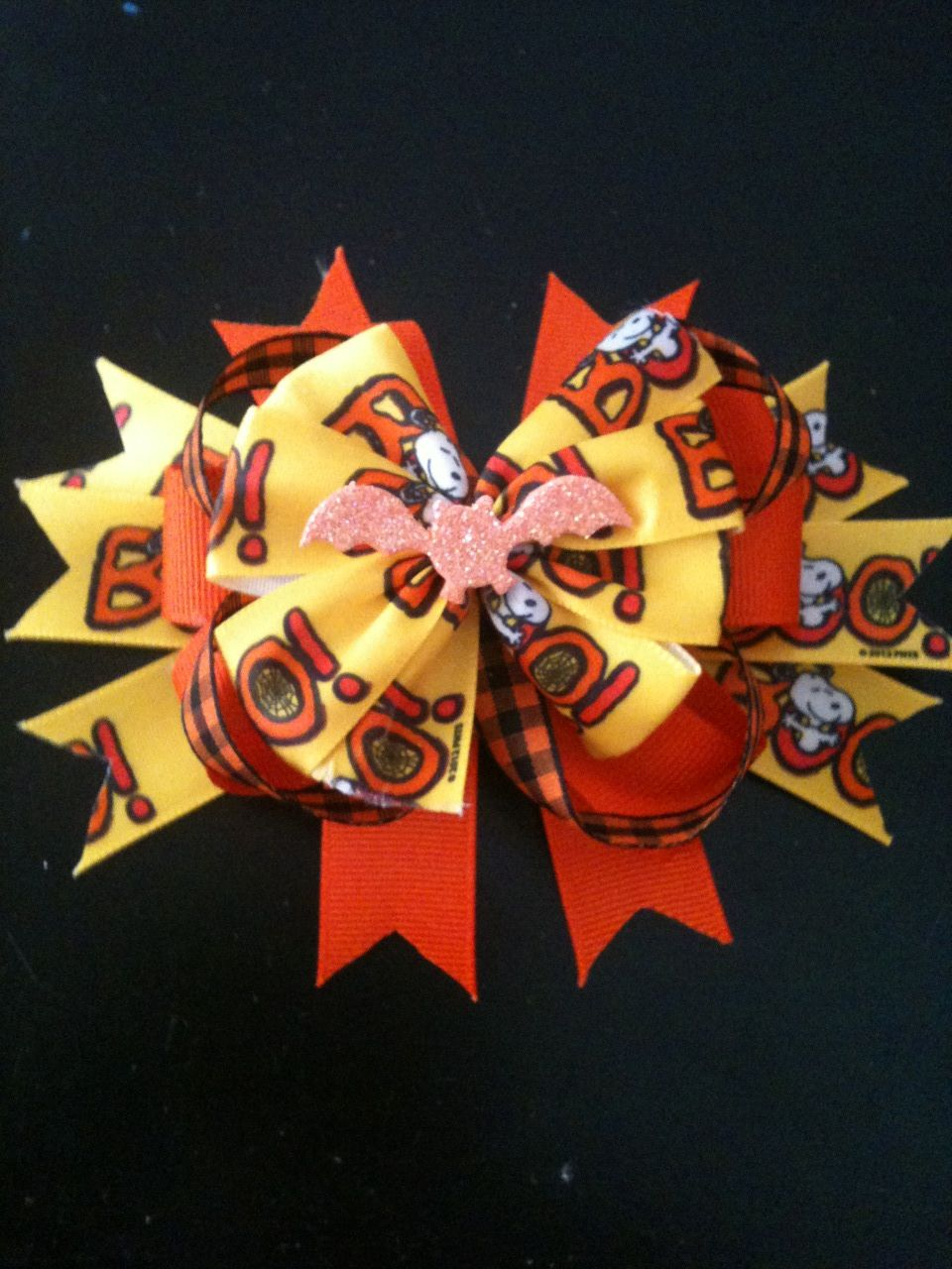 Great for halloween hair bows i made pinterest hair bow