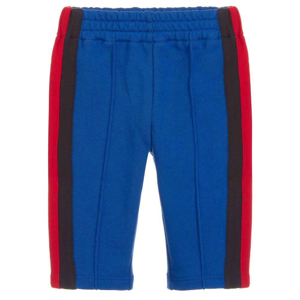 2a800fd7cd15 Younger boys cobalt blue cotton jersey joggers from Gucci