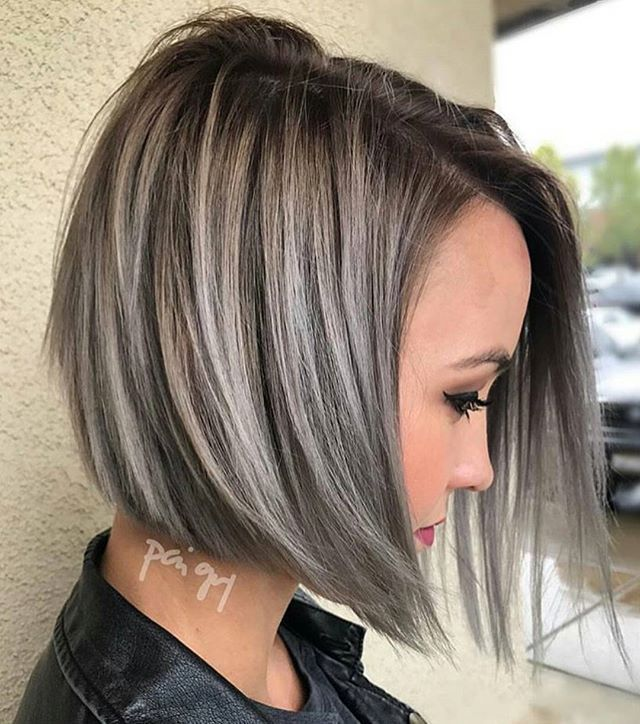 Highlights Short Hair Grey