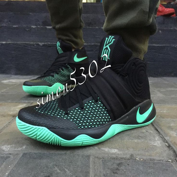 5138a41c84c Mens Nike Kyrie 2 Green Glow Black 820537-007 Basketball Shoes ...
