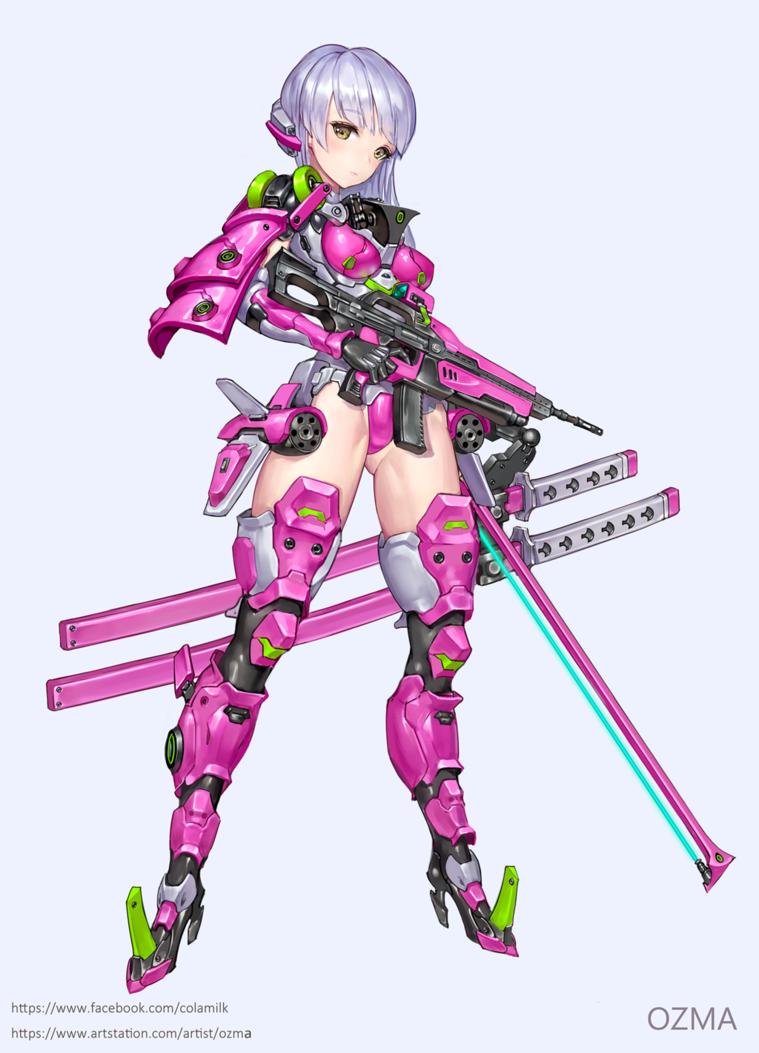 Powered Suit Girl By Ozma02 Deviantart Com On Deviantart Anime Character Design Character Art Mecha Anime