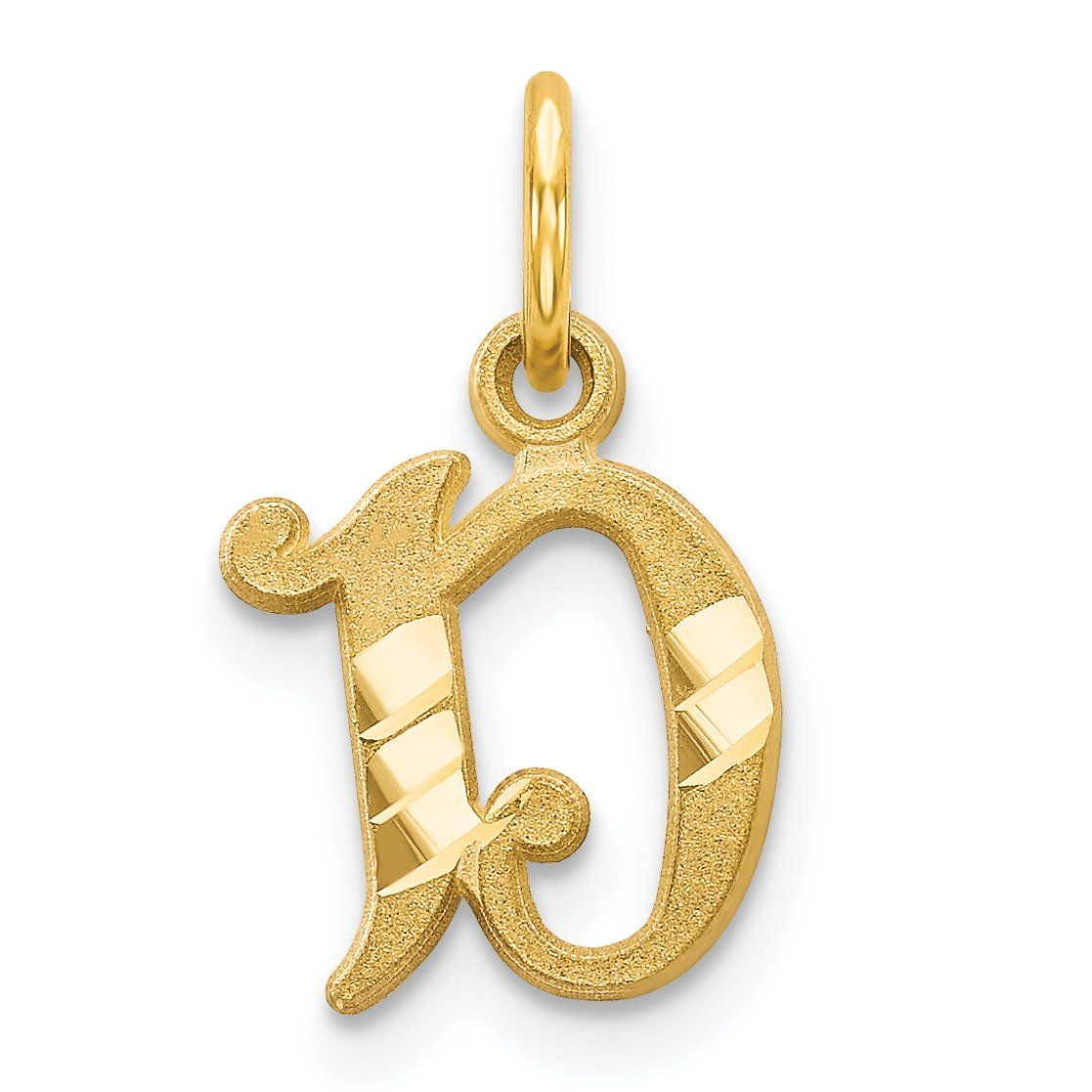 14k Initial D Charm Gold Initial Monogram Pendant Necklace Fine Jewelry Gift