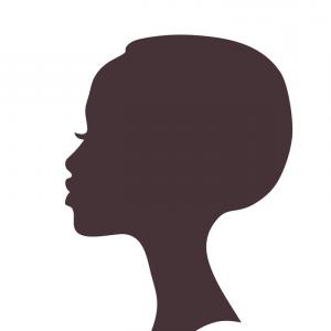 African Woman Face Silhouette Vector Woman Face Silhouette Woman Face Silhouette Vector