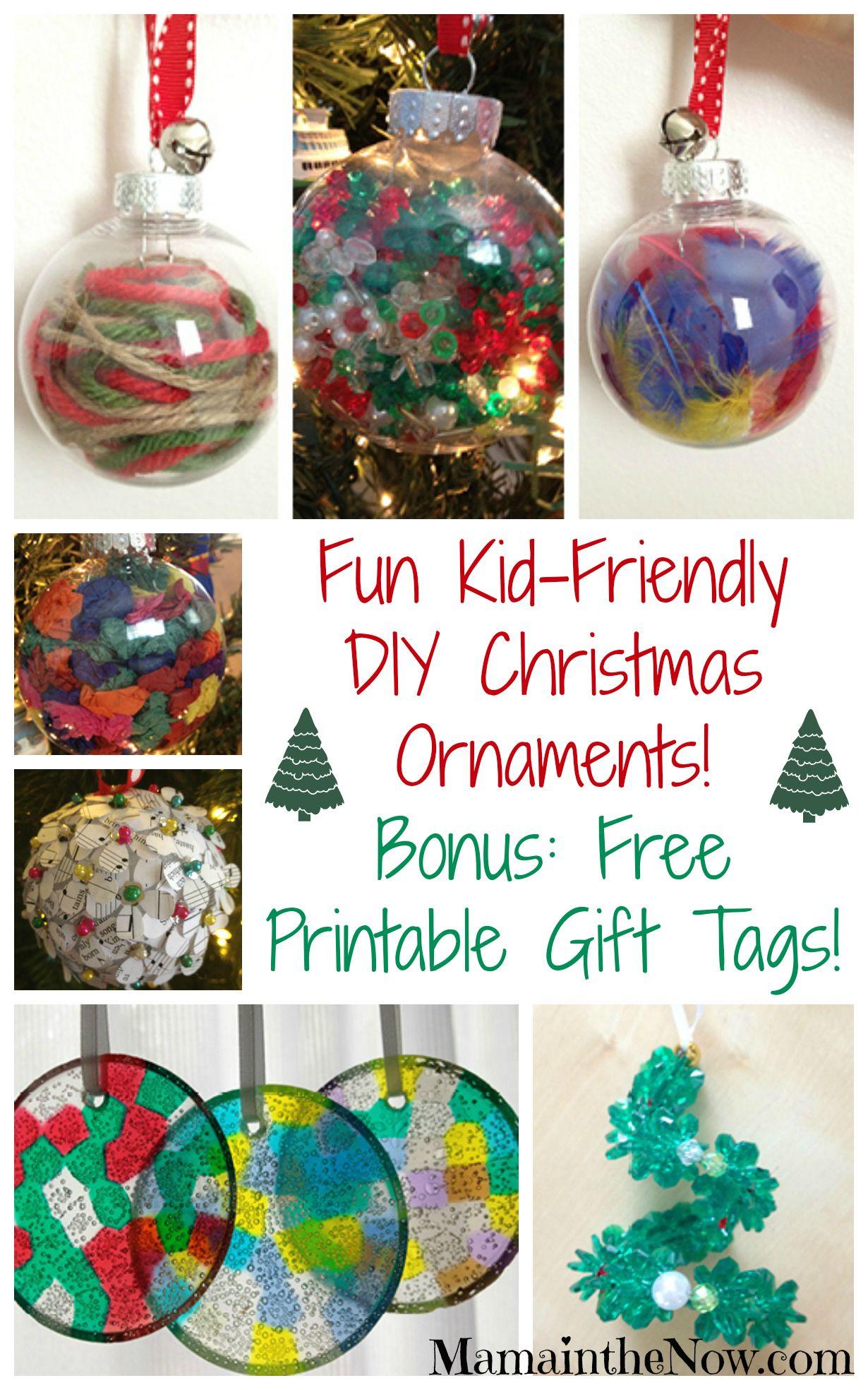 Easy KidFriendly DIY Christmas Ornaments! Diy christmas
