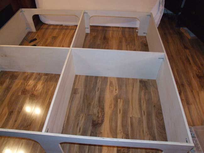 How to build a platform storage bed for under 200 Small
