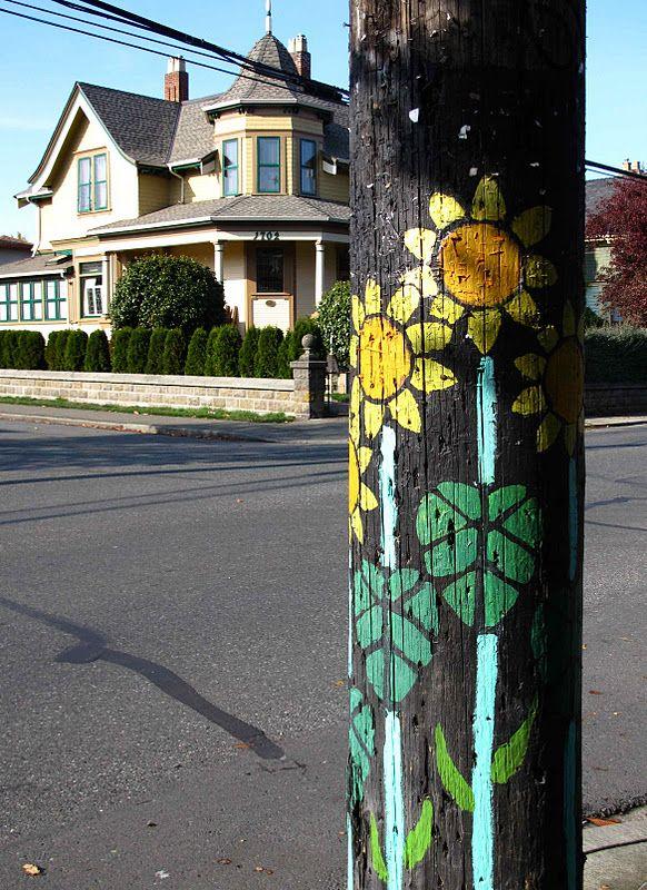 painting street poles canada Google Search Pole art