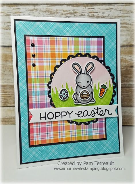 airbornewifes stamping spot thedailymarker30day Day 2 HOPPY – Easter Stamps Card Making