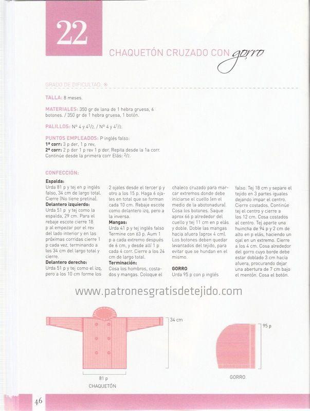 Revista Enciclopedia de Tejido con el Ajuar del Bebé, más de 50 ...