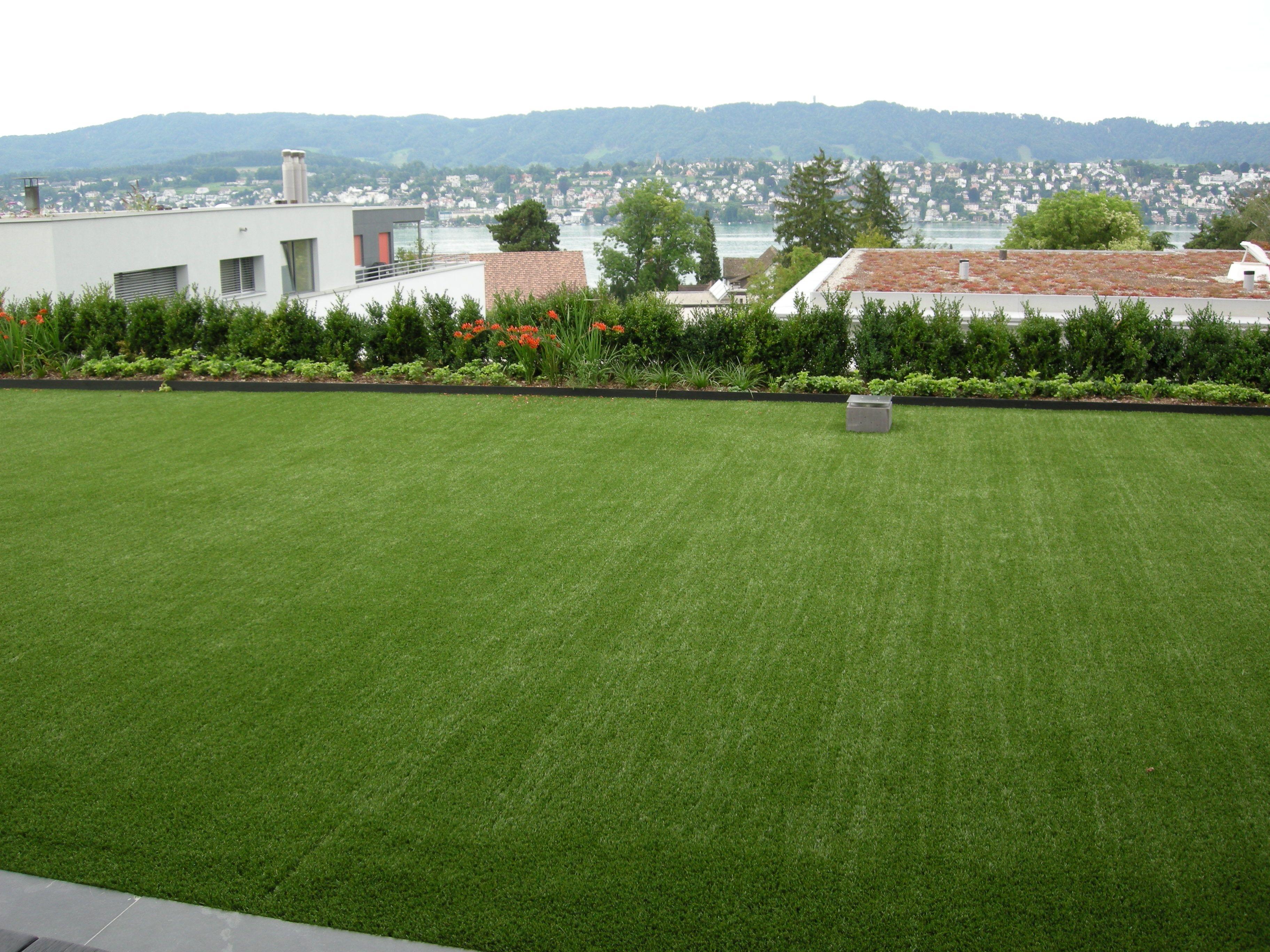 interior exterior pasto sintetico verde jardin