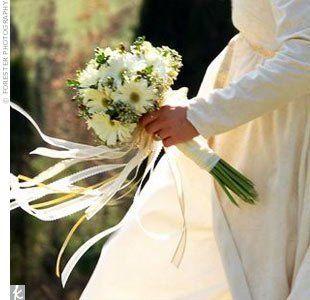The Bridal Bouquet I like the ribbon idea... kind of cute