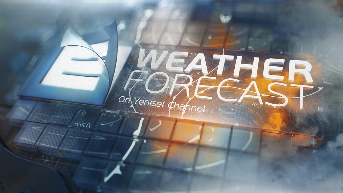 Moodboard And 3d Scenes That Was Made For Yenisei Channel Weather Forecast Program Weather Forecast Forecast Weather Broadcast