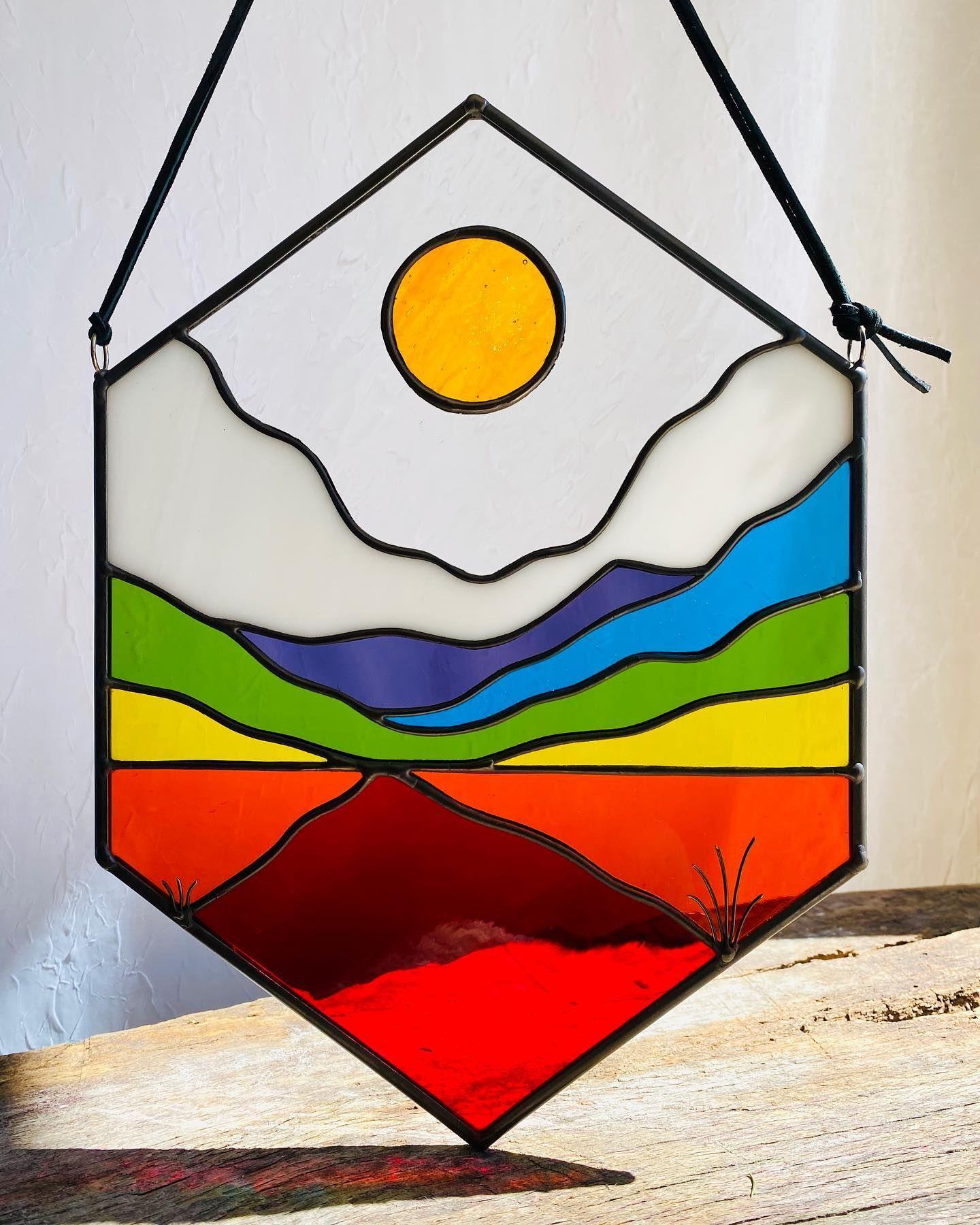 The Dude Fused Glass Suncatcher
