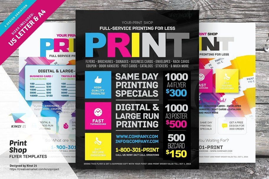 Print Shop Flyer Template Flyer Flyer Template Flyer Printing