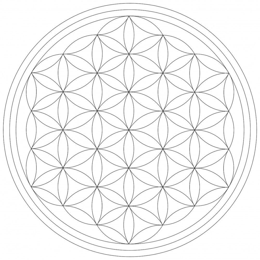Blume Des Lebens Leinwand Malvorlage Leinwandbild Auf Keilrahmen Zum Selber Ausmalen Blume Des Lebens Keilrahmen Lebensblume Tattoo