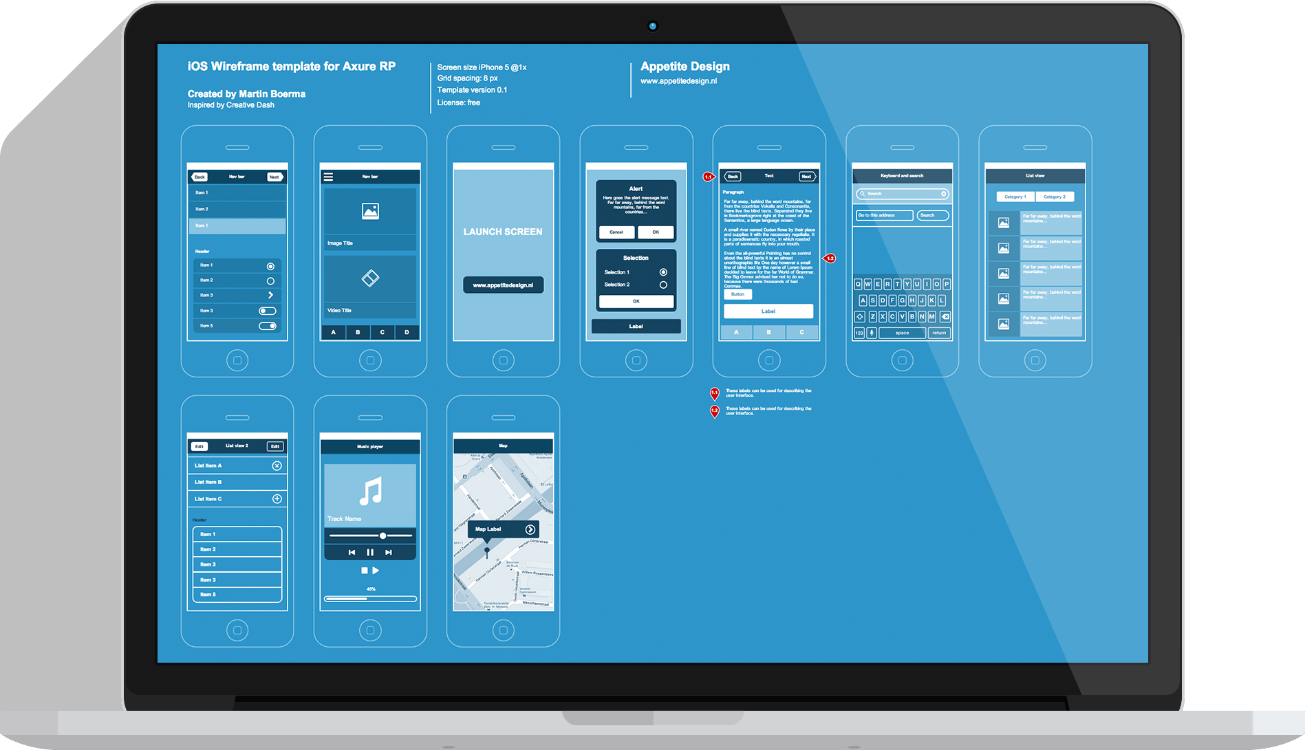 Ios Wireframe Template Free Axure Rp Template 15 User