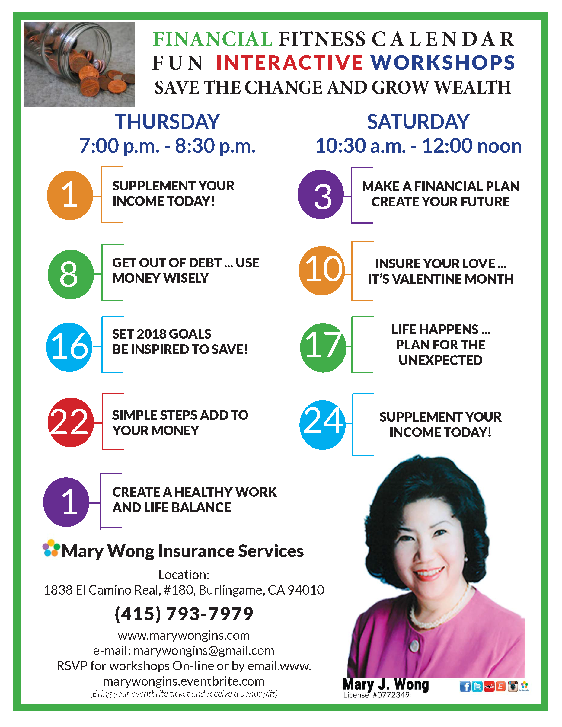 Let S Be Fit And Attend A Mary Wong Insurance Interactive Fun Financial Fitness Workshop Topics Discussed Include Can Financial Fitness Financial Interactive