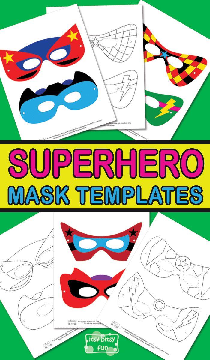 Superhero Mask Template | Superhéroes y Carnavales