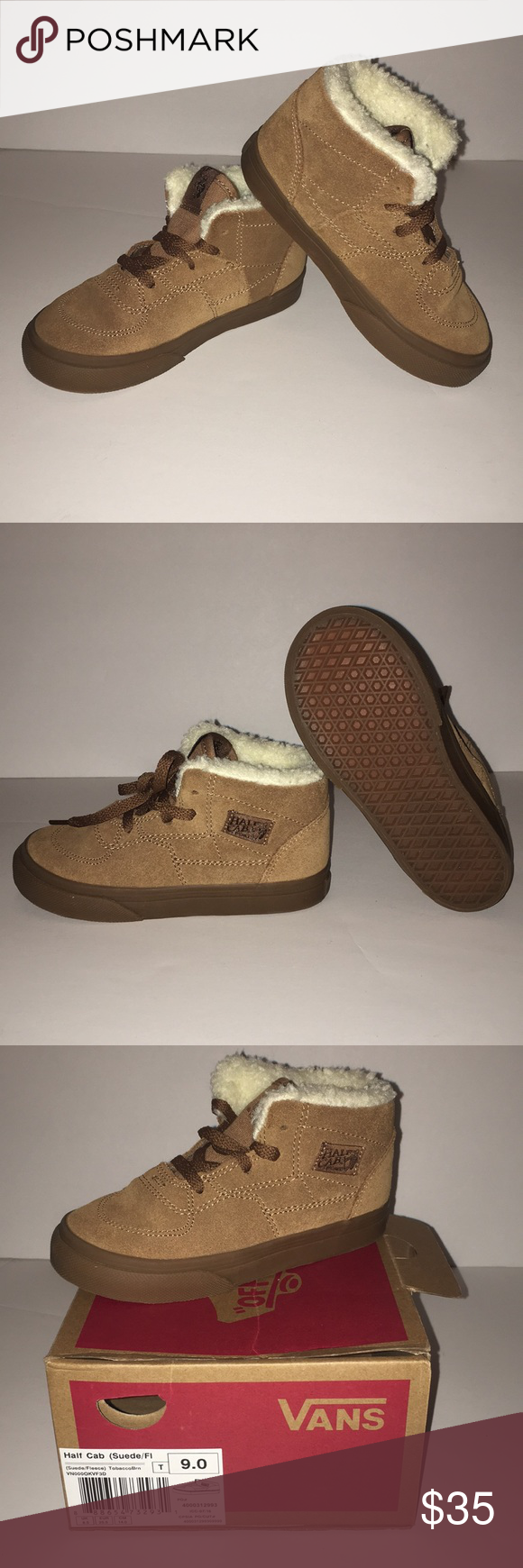 5422b4aac1 Vans Half Cab (Suede Fleece) Brand new in box! Half Cab (Suede Fleece) Tobacco  Brown Size 9.0 Toddler Vans Shoes Sneakers