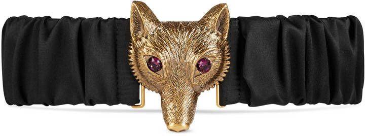 Satin belt with Fox buckle | #Chic Only #Glamour #Always