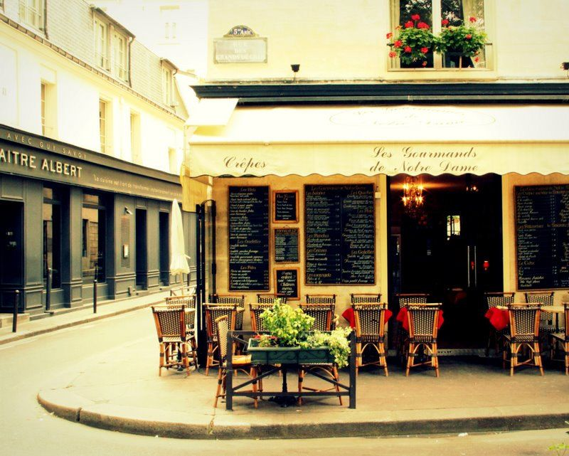 Notre Dame Outdoor Cafe And Bistro Romance Of Paris France Fine Art Travel Photography 8x10 Print 30 00 Via Etsy