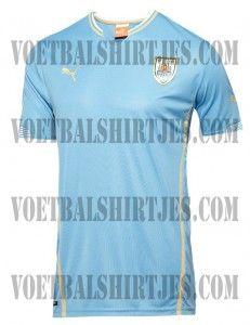 Camisa do Uruguai mantém a tradição - http://www.colecaodecamisas.com/camisa-do-uruguai-copa-2014/ #colecaodecamisas #Copadomundo2014, #Puma