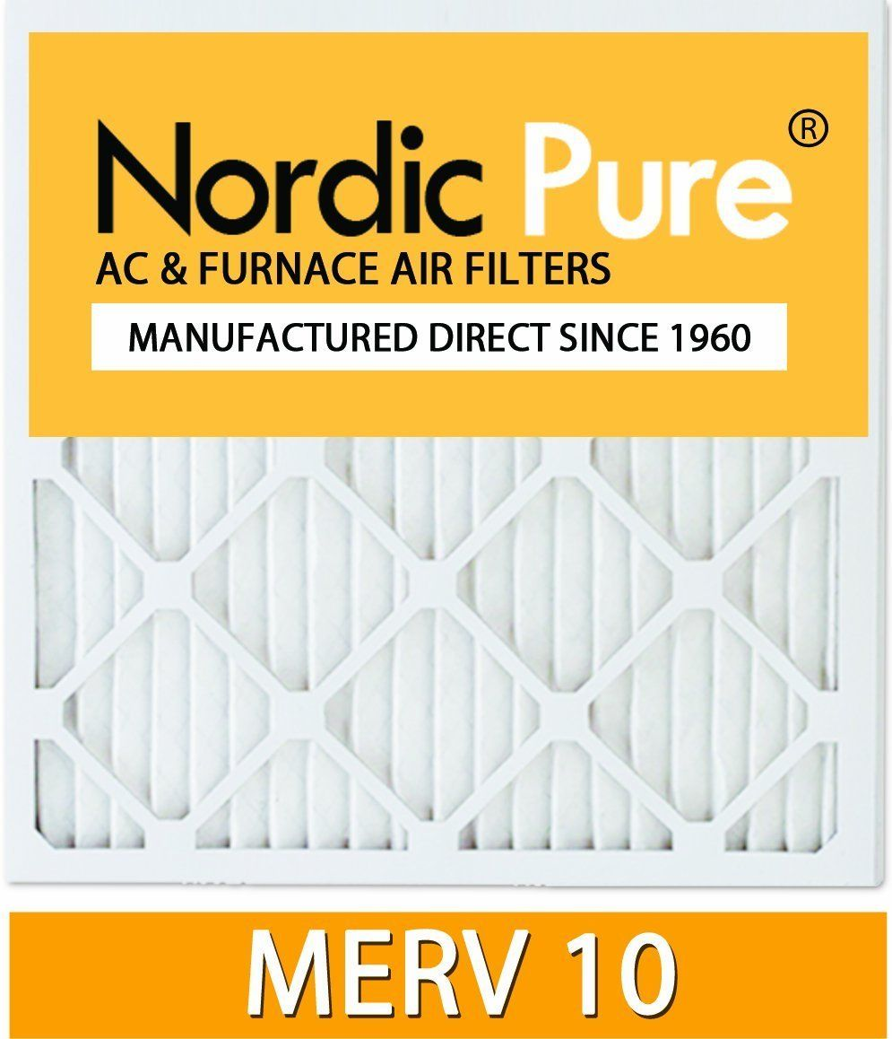 The Nordic Pure MERV 10 pleated allergen reduction