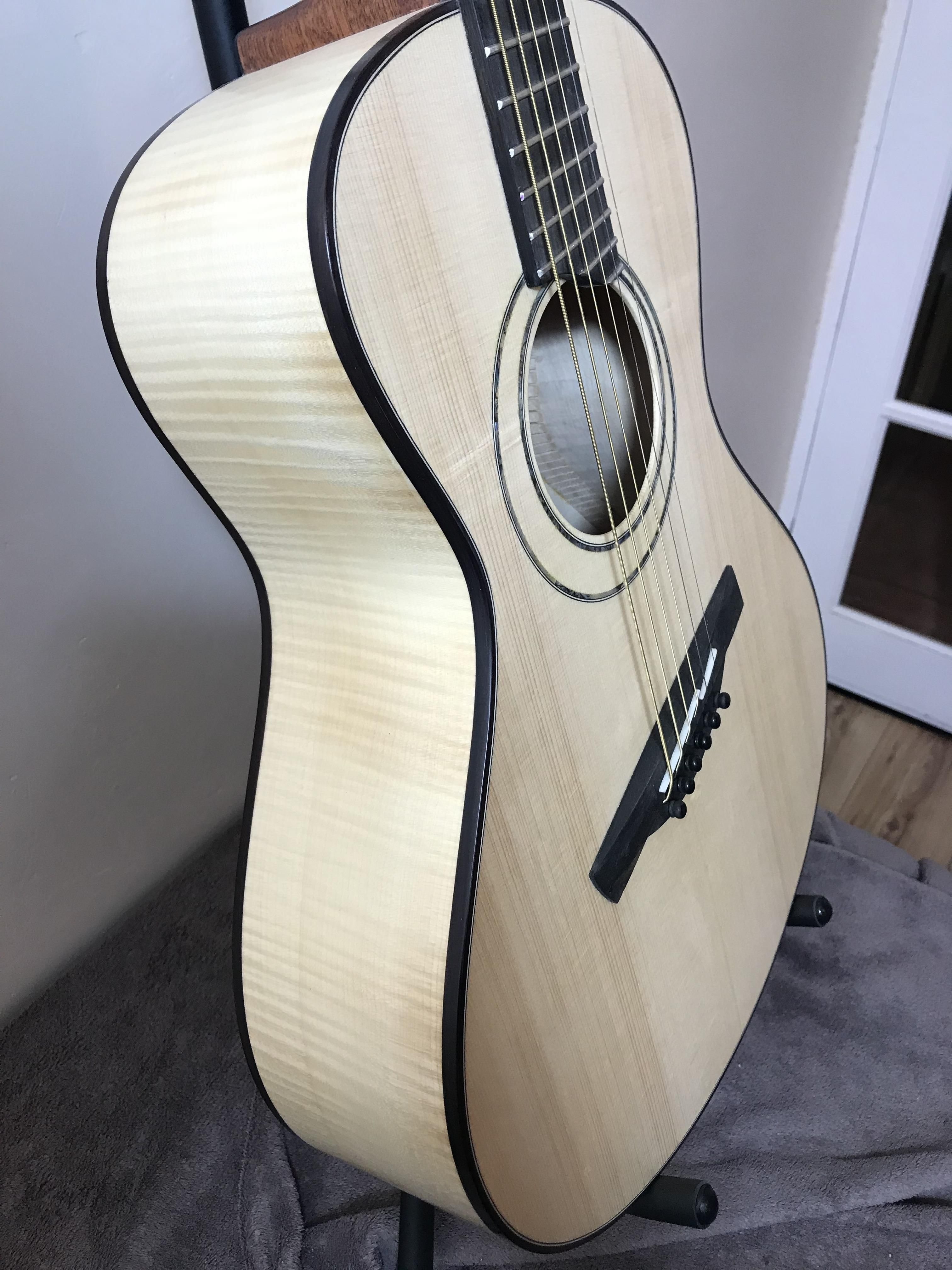 Custom Handmade Guitar Acoustic Luthier Concert Guitar Made With